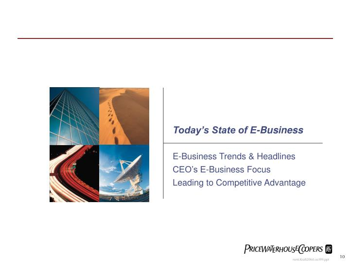 Today's State of E-Business