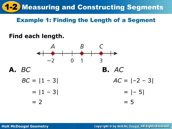 Example 1: Finding the Length of a Segment