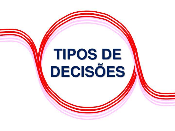 TIPOS DE DECISÕES
