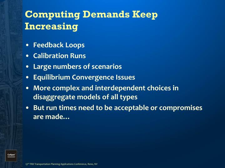 Computing demands keep increasing