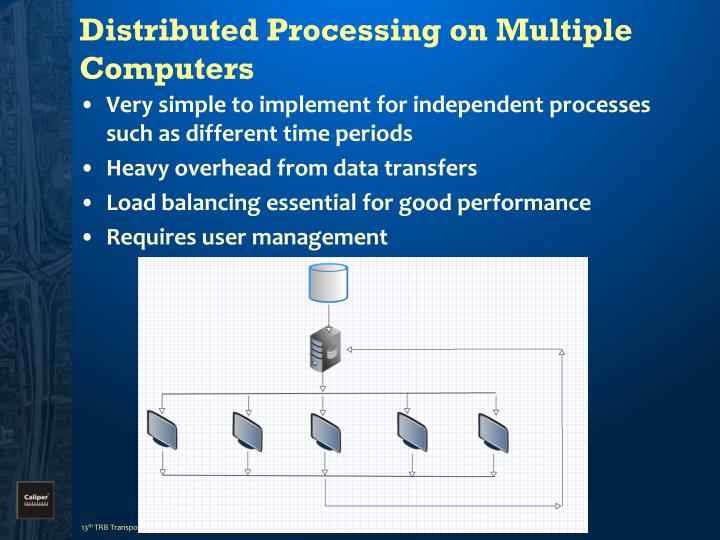 Distributed Processing on Multiple Computers