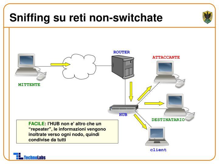 Sniffing su reti non-switchate