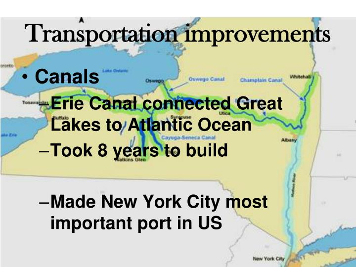 Transportation improvements
