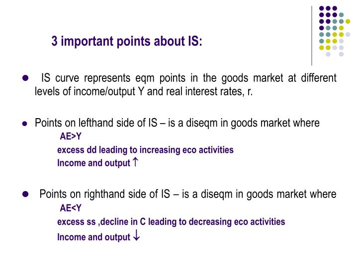 3 important points about IS: