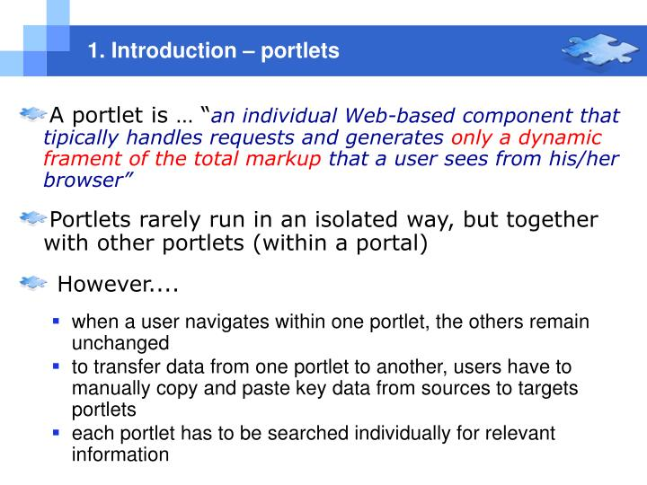 1. Introduction – portlets