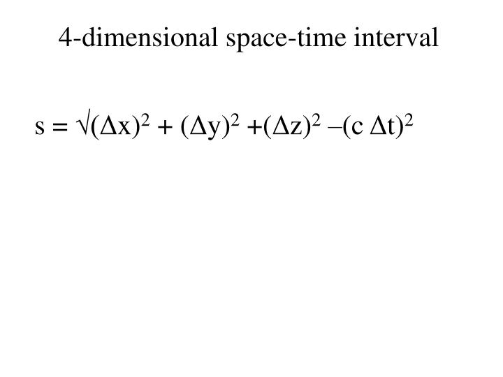 4-dimensional space-time interval