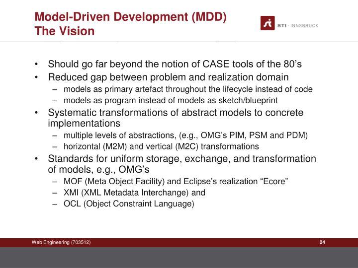 Model-Driven Development (MDD)