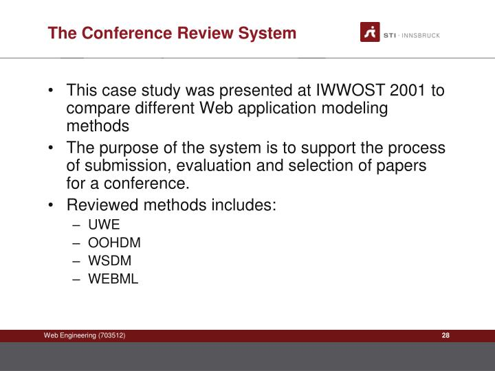The Conference Review System