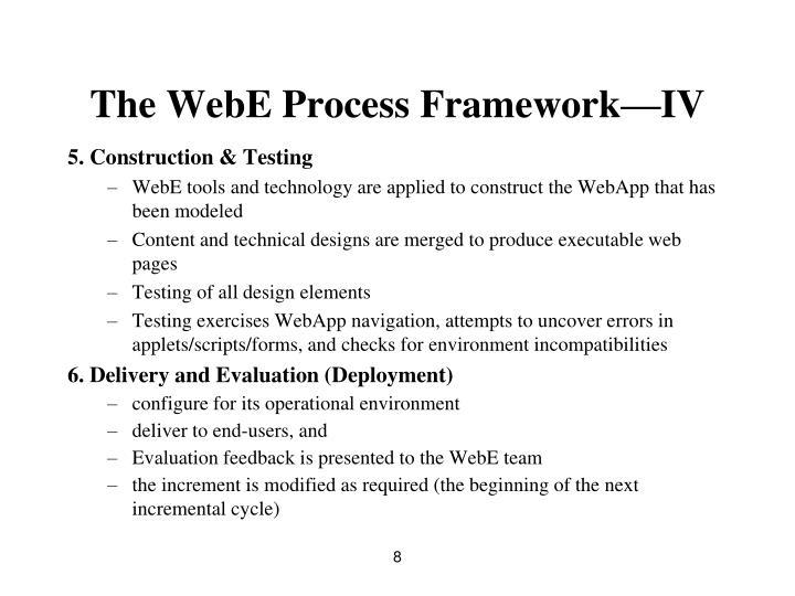 The WebE Process Framework—IV