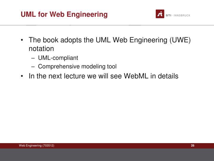 UML for Web Engineering
