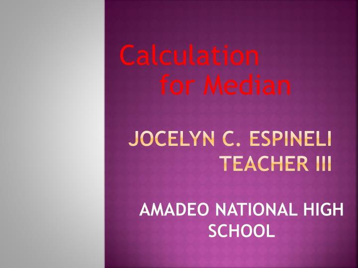 Jocelyn C.