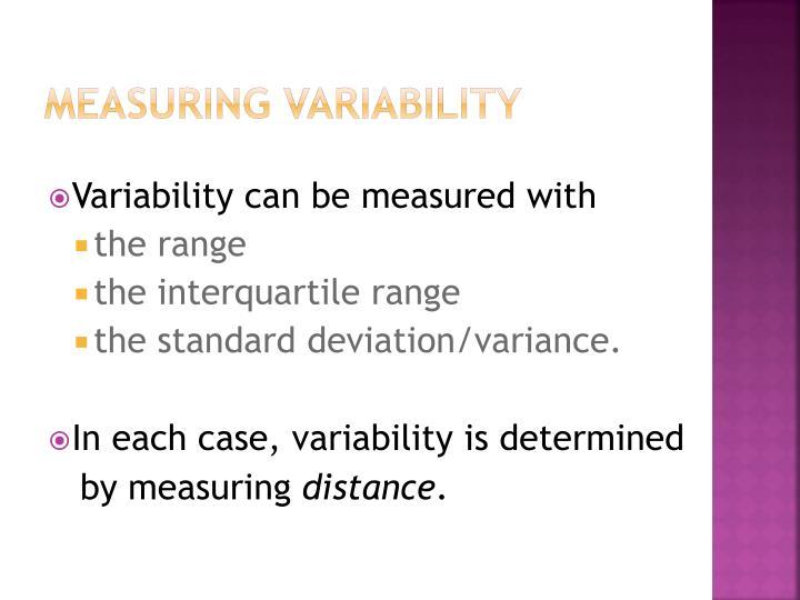 Measuring Variability