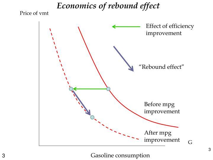 Economics of rebound effect