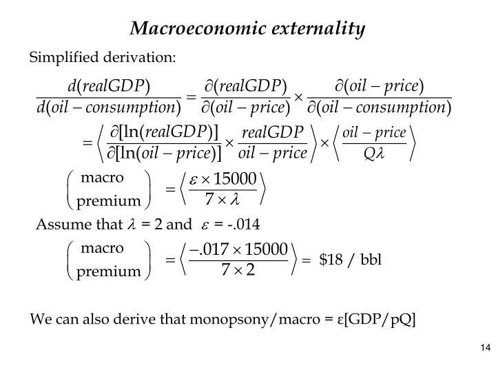 Macroeconomic externality