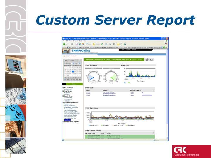 Custom Server Report