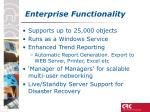 enterprise functionality