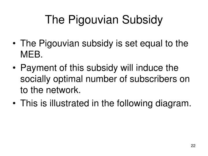 The Pigouvian Subsidy