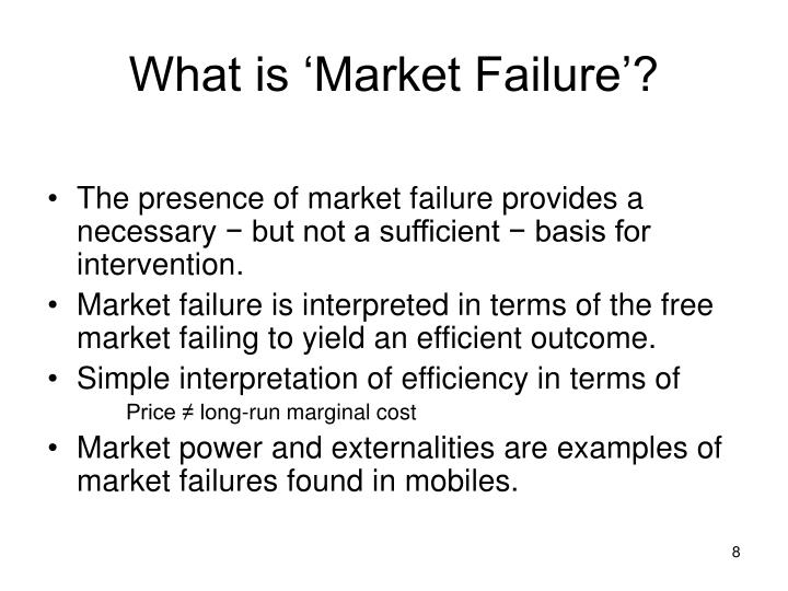 What is 'Market Failure'?