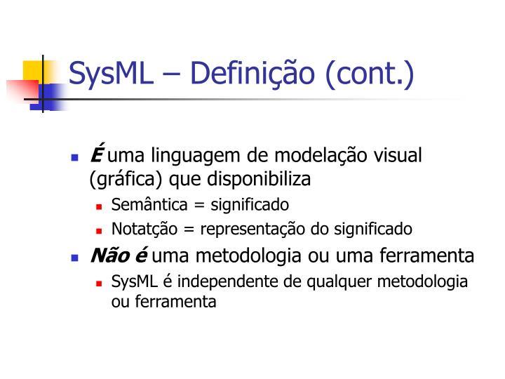 SysML – Definição (cont.)