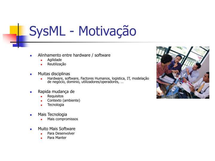 SysML - Motivação