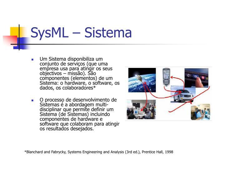 SysML – Sistema