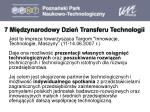 7 mi dzynarodowy dzie transferu technologii