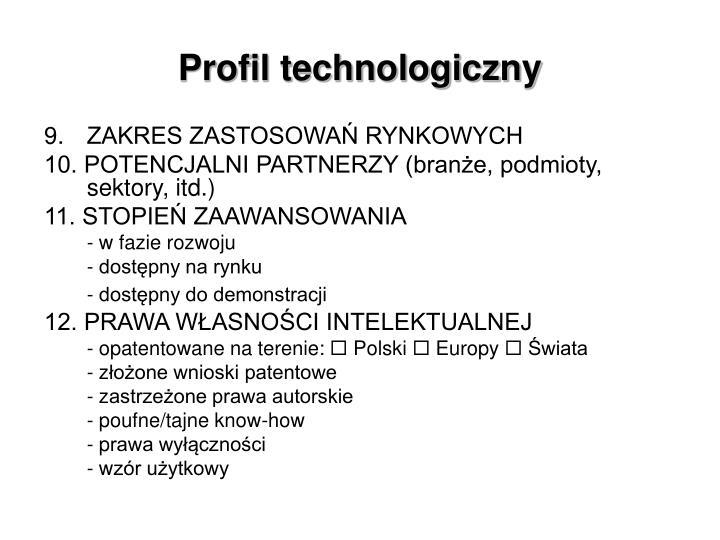 Profil technologiczny