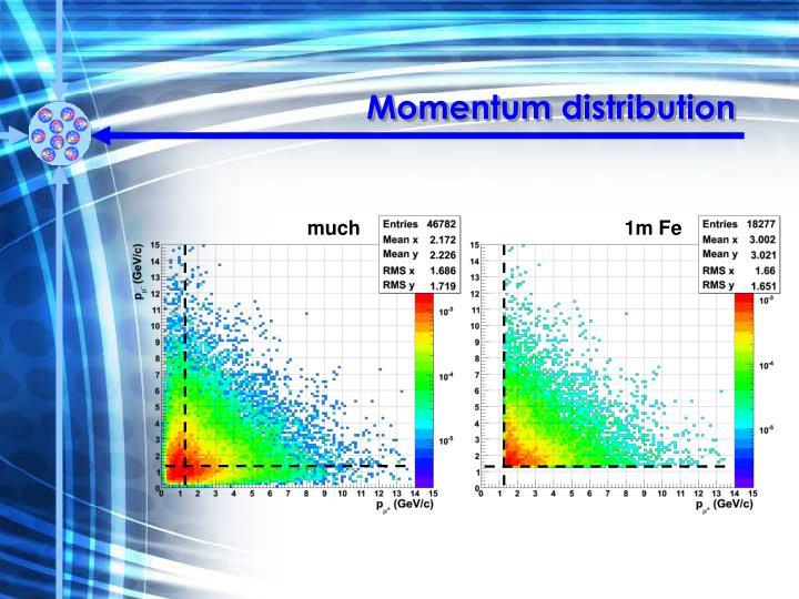 Momentum distribution