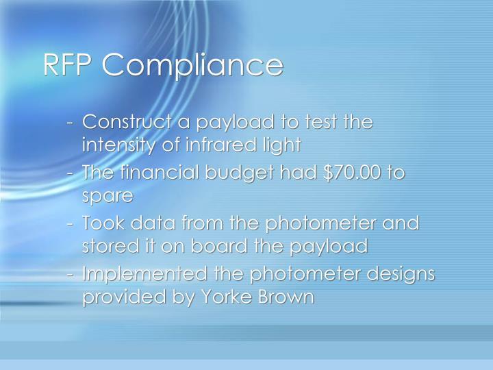 RFP Compliance