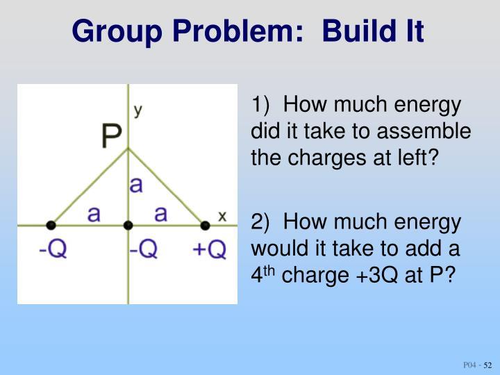 Group Problem:  Build It