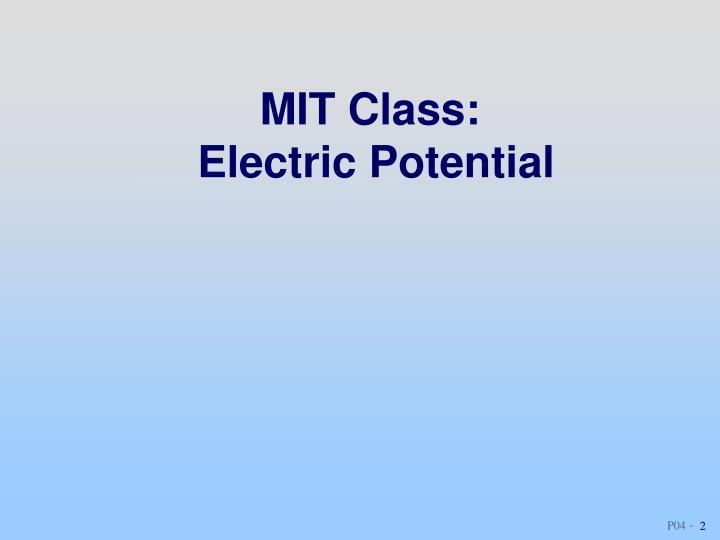 MIT Class: