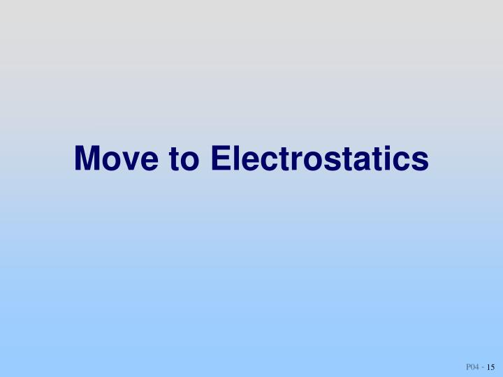 Move to Electrostatics