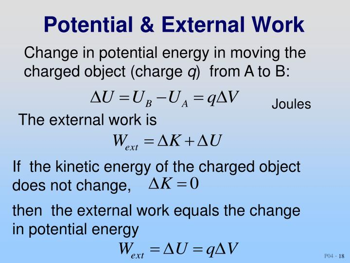 Potential & External Work