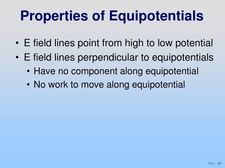 Properties of Equipotentials