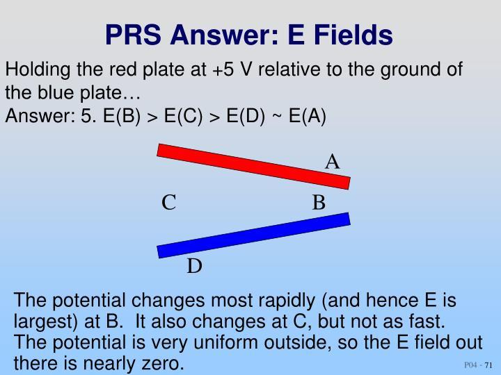 PRS Answer: E Fields