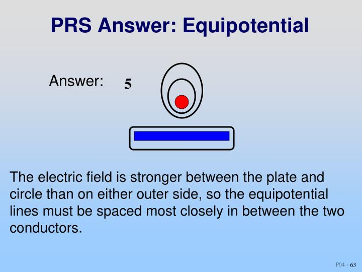 PRS Answer: Equipotential