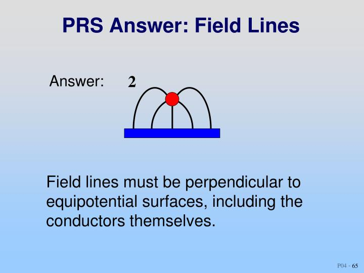 PRS Answer: Field Lines