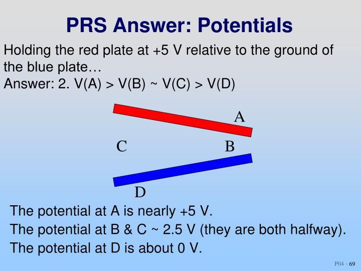 PRS Answer: Potentials