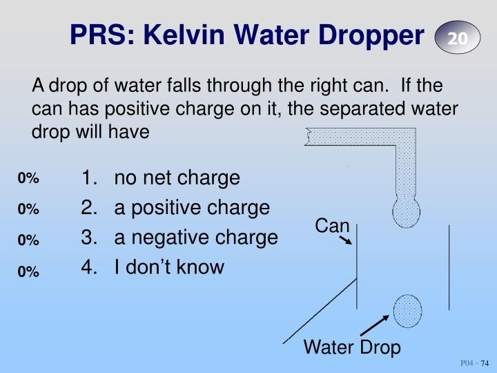 PRS: Kelvin Water Dropper