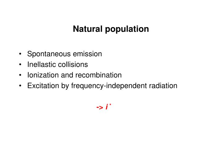 Natural population