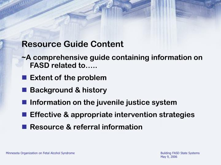 Resource Guide Content