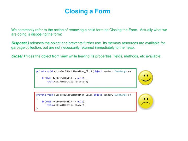 Closing a Form