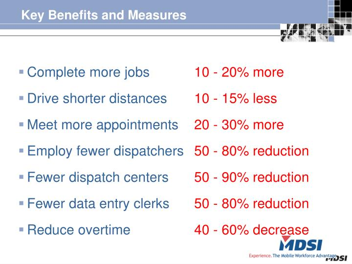 Key Benefits and Measures