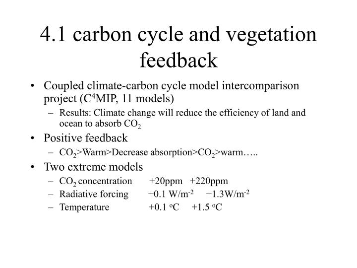 4.1 carbon cycle and vegetation feedback