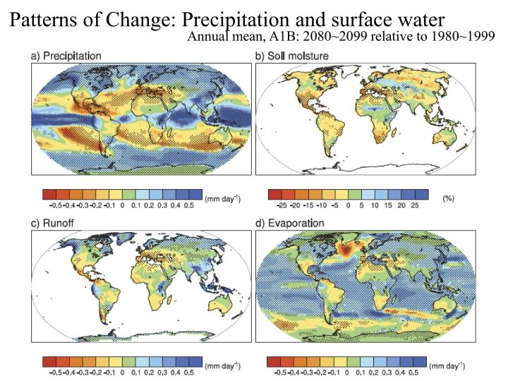 Patterns of Change: Precipitation and surface water