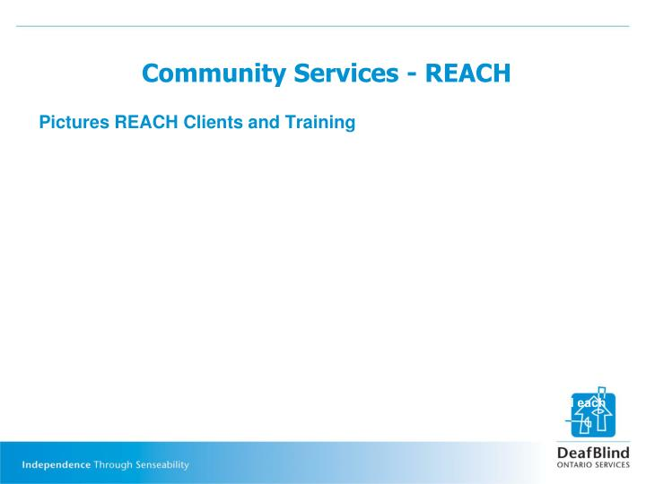 Community Services - REACH