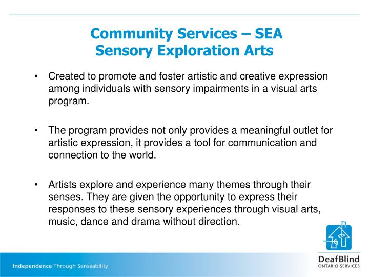 Community Services – SEA