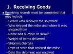1 receiving goods