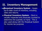 ii inventory management