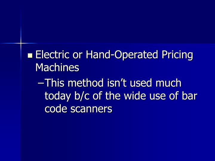 Electric or Hand-Operated Pricing Machines